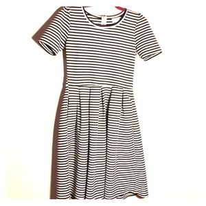 Lularoe Amelia black & white striped dress